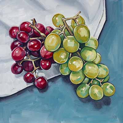 'Red Grapes + Green Grapes' by Harriet Hue