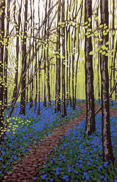 New Leaves and Bluebells by Alexandra Buckle