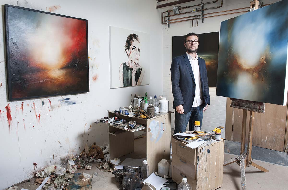 Paul in his studio in Cumbria