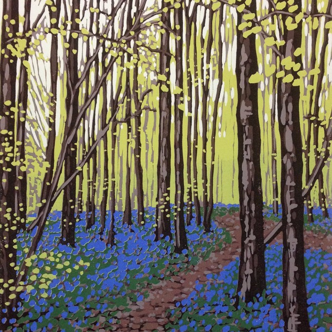 New Leaves and Bluebells