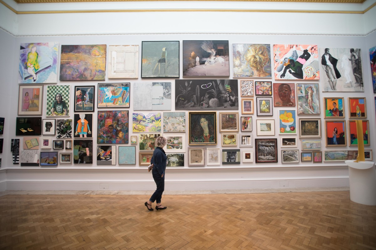 A view of the Summer Exhibition