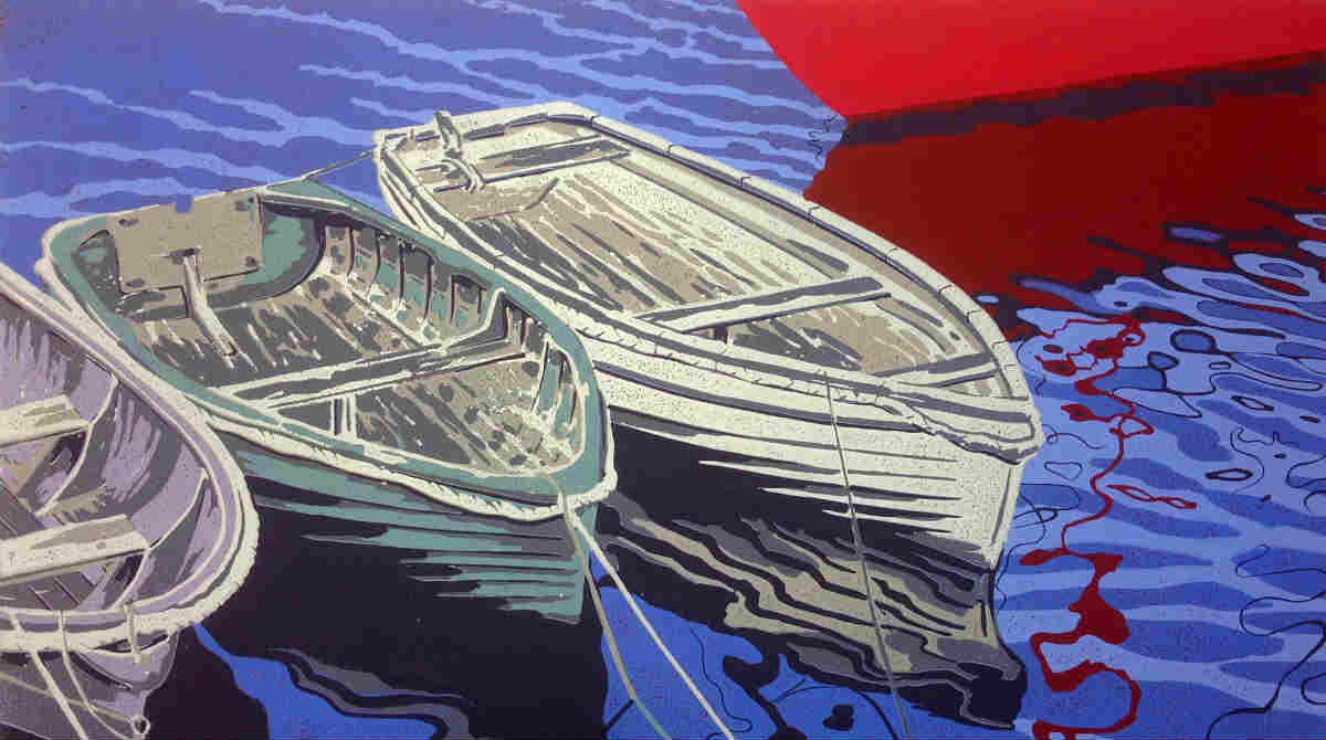 Mevagissey Boats by Alexandra Buckle