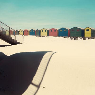 Shadows and sand by Nadia Attura
