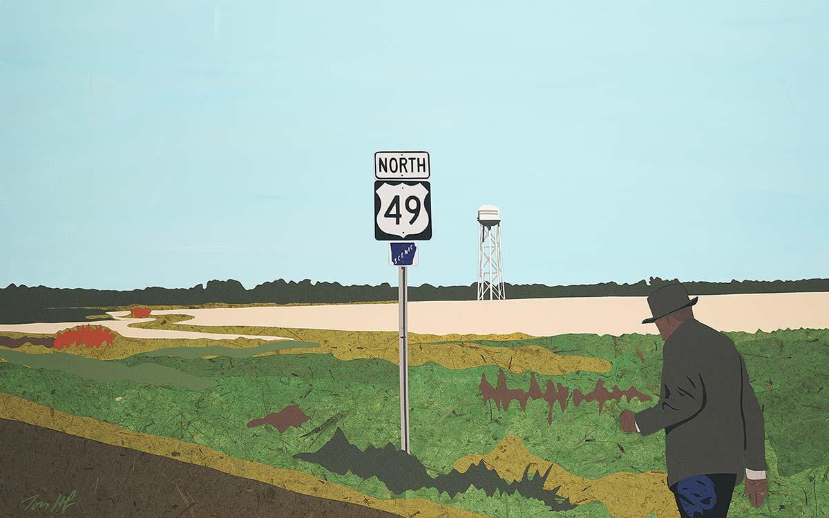 Walking blues by Tom Hofer