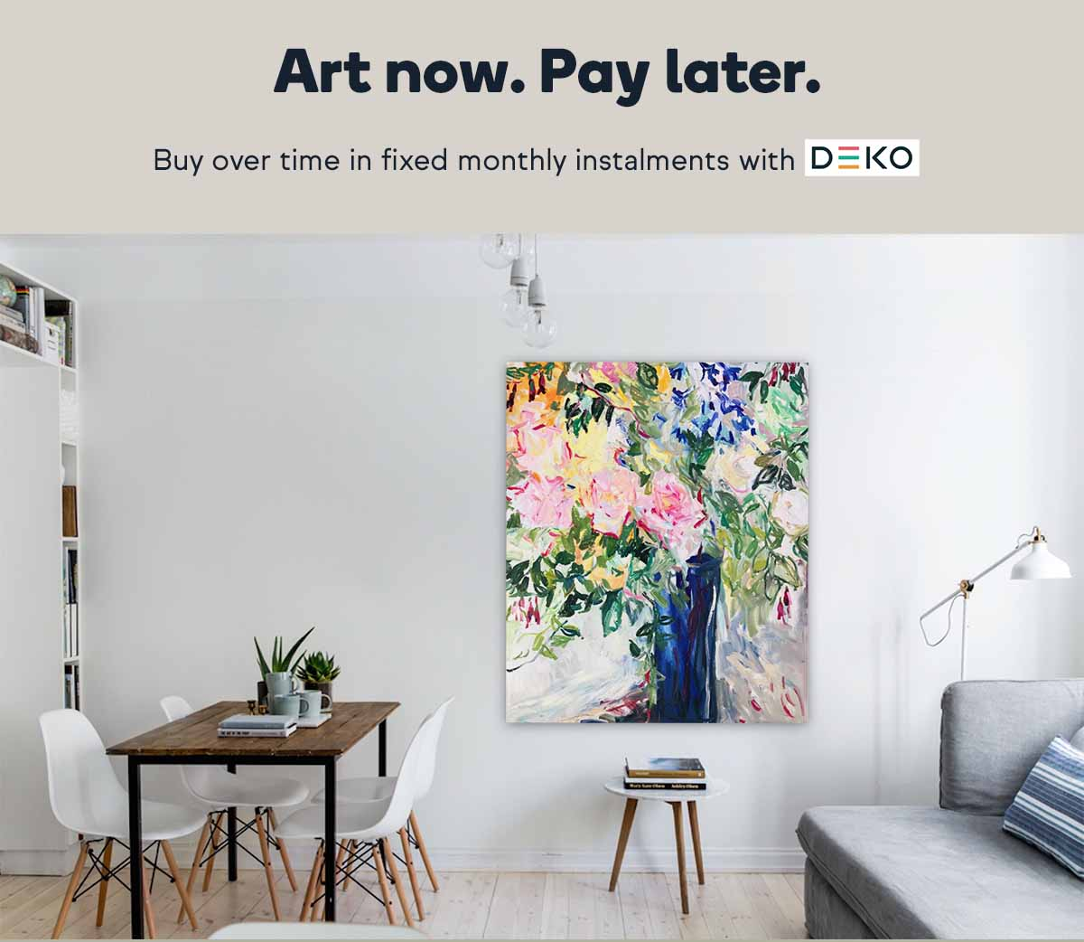 Buy art now and pay later with Deko
