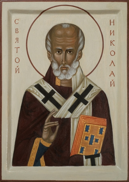 COntemporary icon of Saint Nicholas