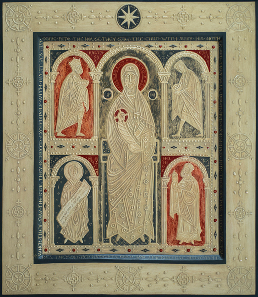 Relief Icon Nativity of Christ  by Olga Shalamova. 2014-2015