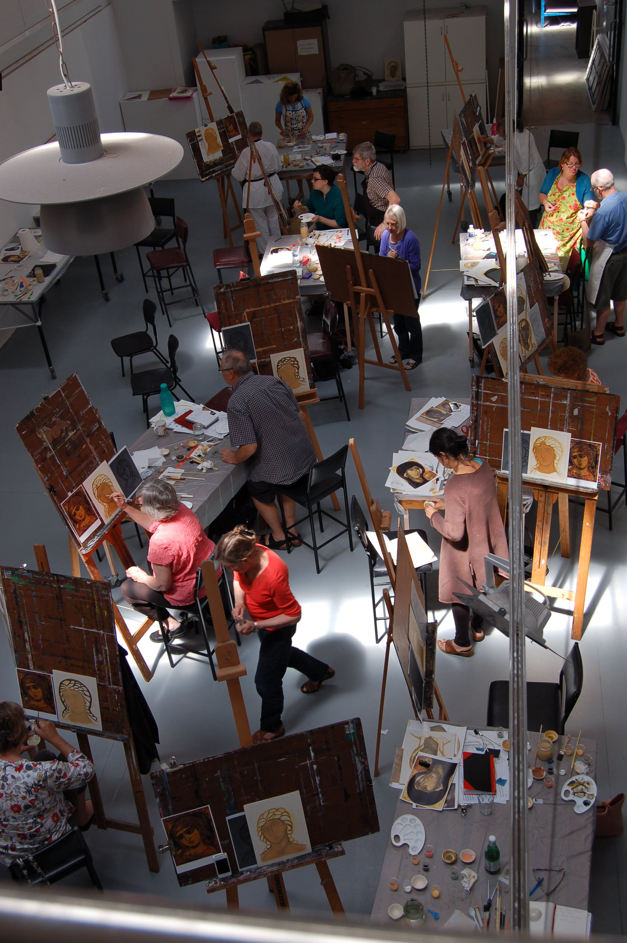 Icon Painting Workshop in ACU (Melbourne, Australia, January 2015)