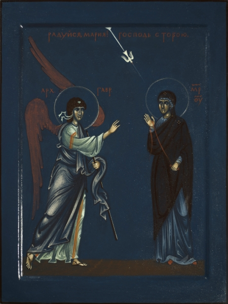 Modern Icon of Annunciation by Philip Davydov