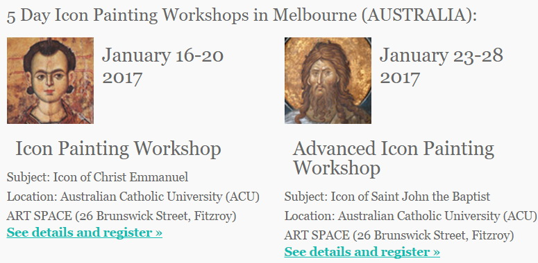 Icon Painting Workshops in Melbourne