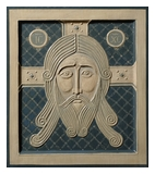Relief Icon The Holy Mandylion 2014  by Olga Shalamova