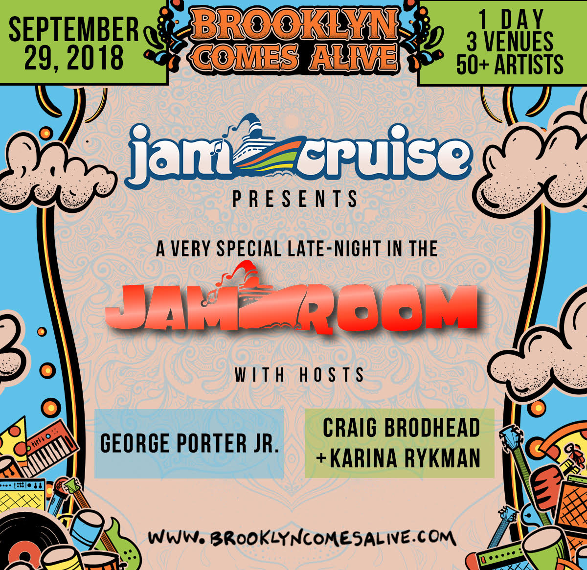BROOKLYN COMES ALIVE ANNOUNCES HOSTS FOR THE JAM ROOM CURATED BY JAM CRUISE