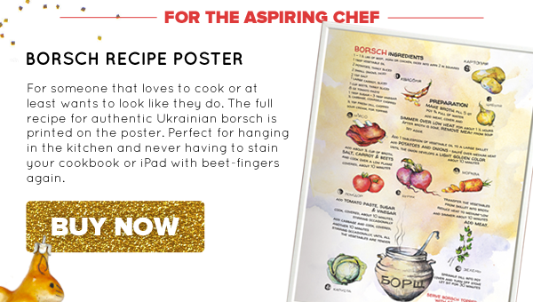 Borsch Recipe Poster | Buy Now >