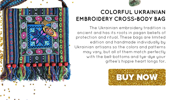 Colorful Ukrainian Embroidery Cross-Body Bag | Buy Now >