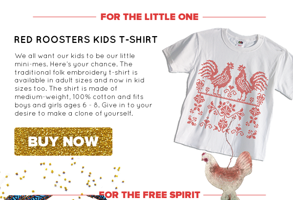 Red Roosters Kids T-Shirt | Buy Now >