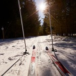 First-Person View of Cross Country Skiing
