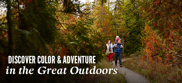 Discover Color & Adventure in the Great Outdoors