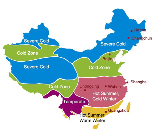 Chinese climate zones
