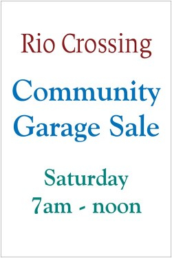Load images to see Garage Sale sign