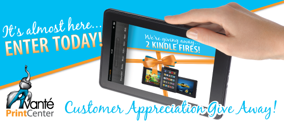 we're giving away 2 new kindle fires!