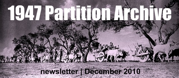 1947 Partition Archive | December 2010 Newsletter