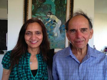 Professor Abdul Jabbar with his wife, Talat Jabbar
