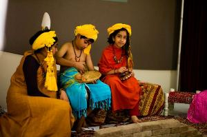 [Photo: Indus Heritage Day kids]