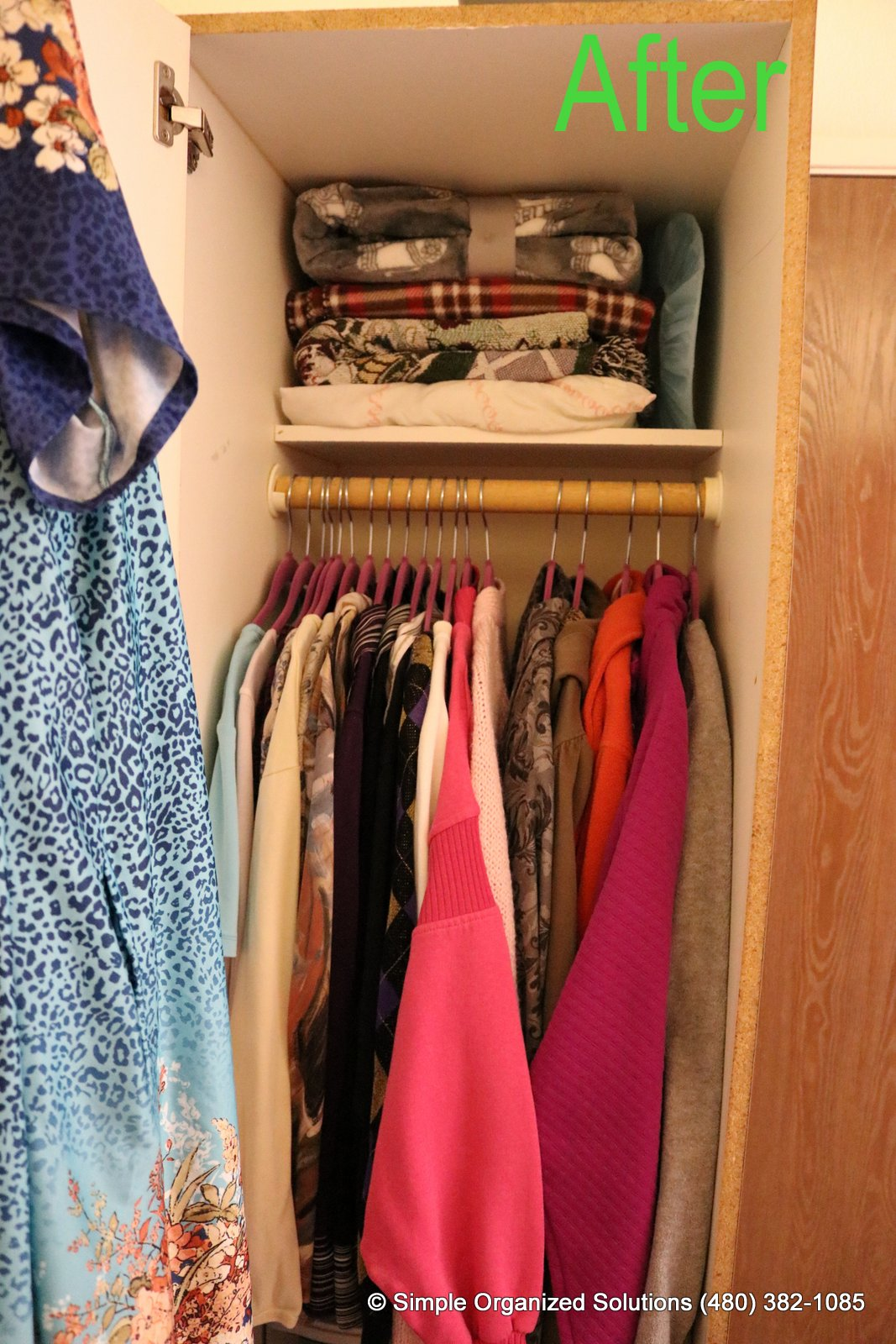 Closet organization_after photo