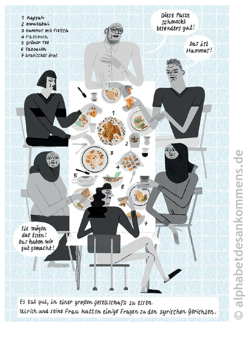 Motiv aus der Comicreportage »Brot, Salz und verrückter Käse«
