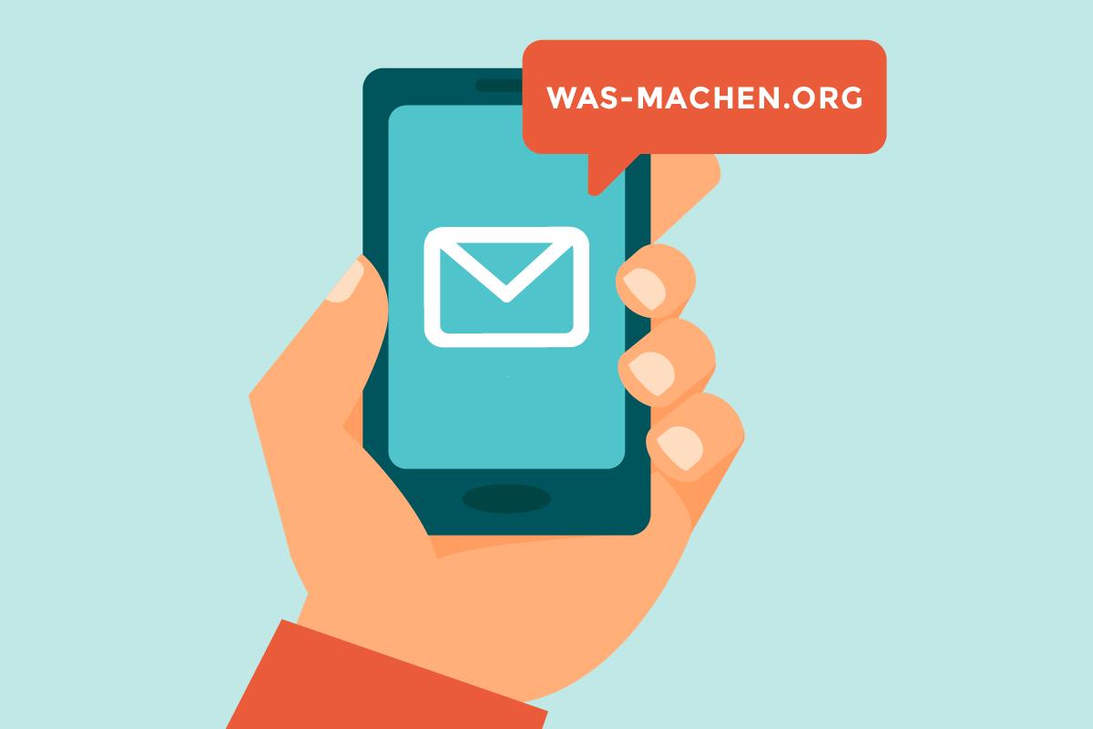 Mobiltelefon-Screen mit was-machen.org