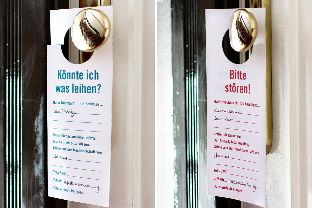 "DIY Nachbarschafts-Türanhänger ""Bitte stören!"""