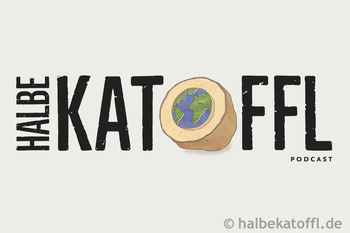 "Logo des Podcasts ""Halbe Katoffl"""
