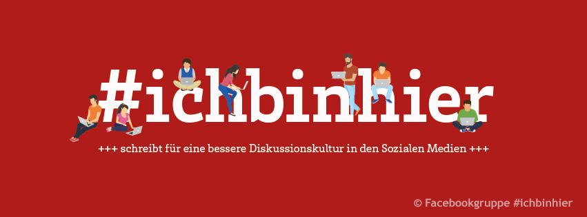 Titelbild der Facebookgruppe #ichbinhier