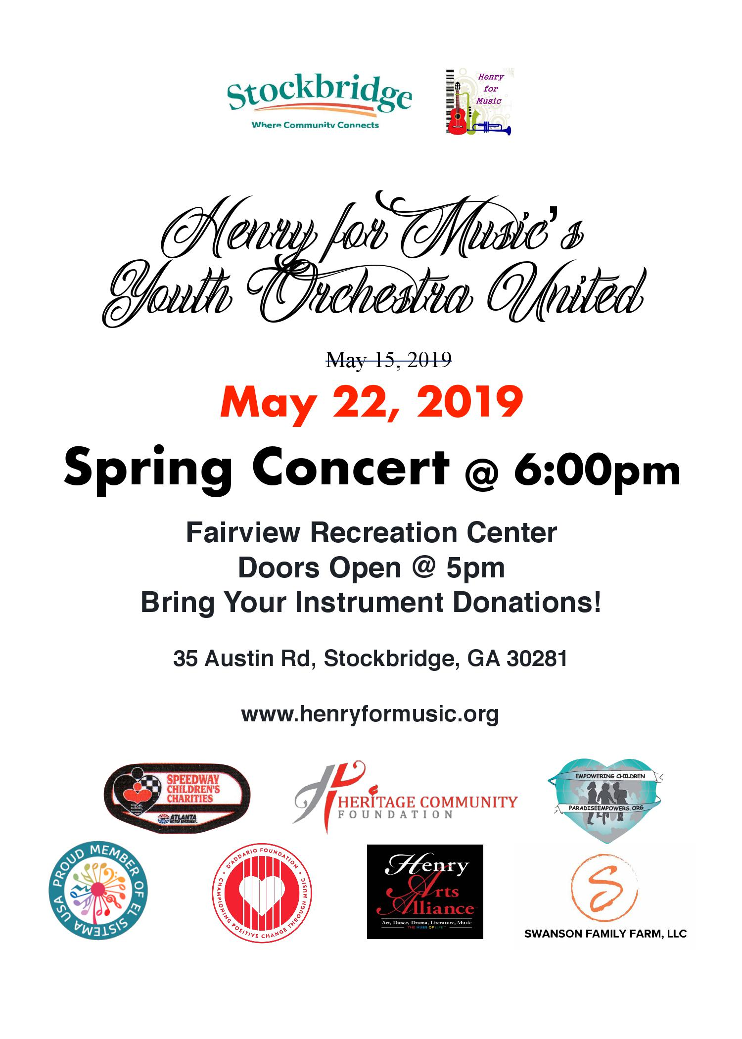 Henry For Music - May 22nd Concert