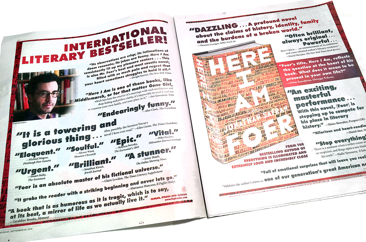 Here I Am - Jonathan Safran Foer - New York Times Book Review