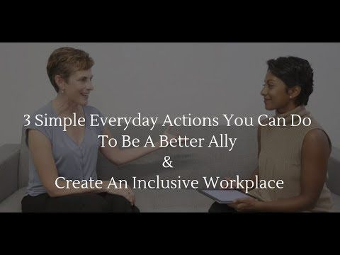 "Photo of Karen Catlin and Poornima Vijayashanker, with the text ""3 Simple Everyday Actions You Can Do To Be a Better Ally & Create An Inclusive Workplace"