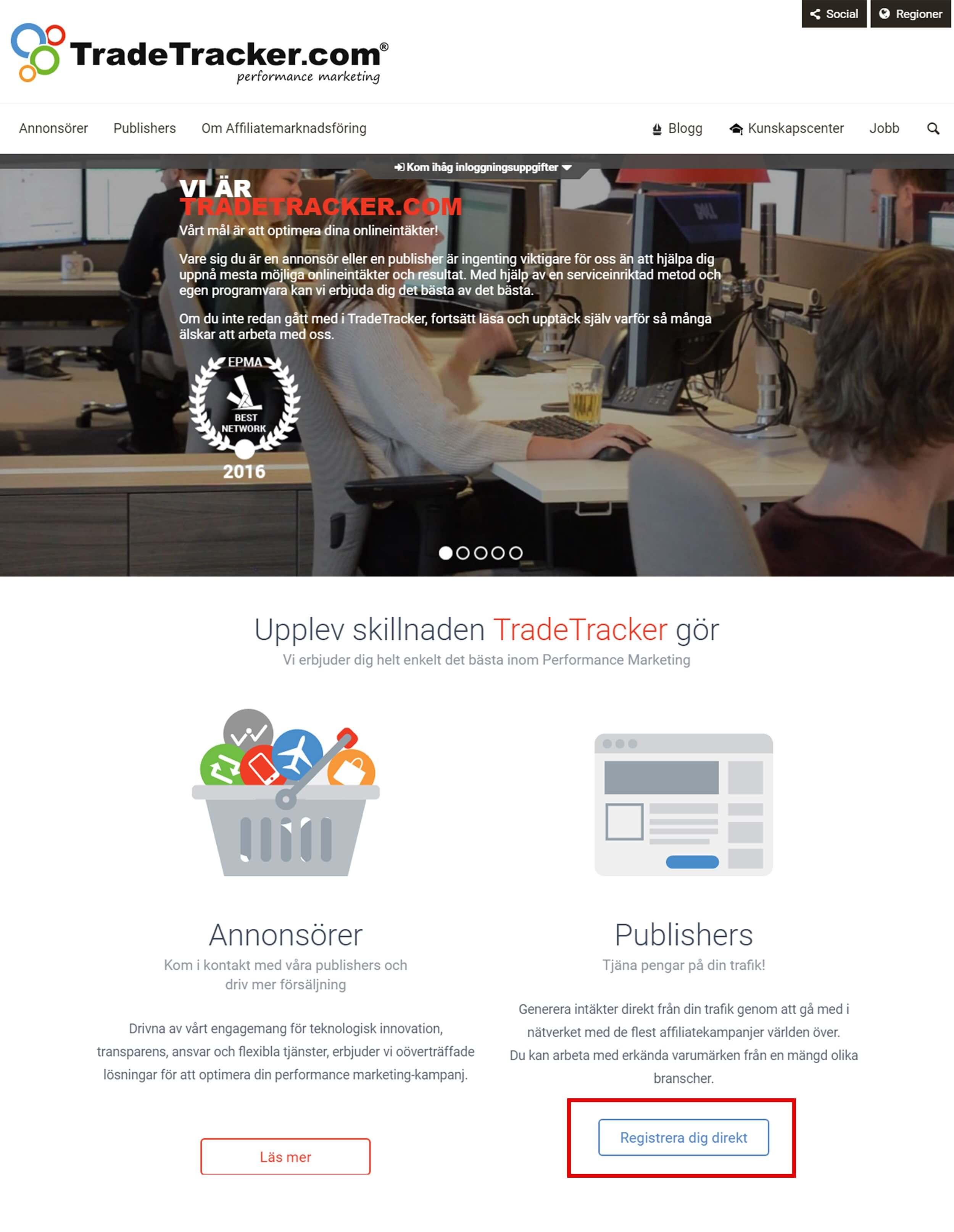 tradetracker affiliate-programmet
