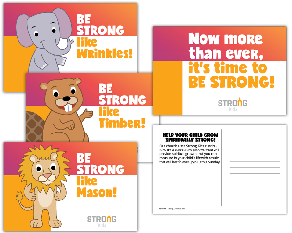 "Strong Curriculum ""Be Strong"" Postcards"