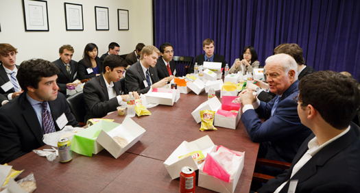 Baker Institute Update: Students lunch with The Honorable James A. Baker, III