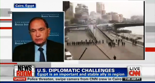 Baker Institute Update: Crisis in Egypt; A top-20 ranking