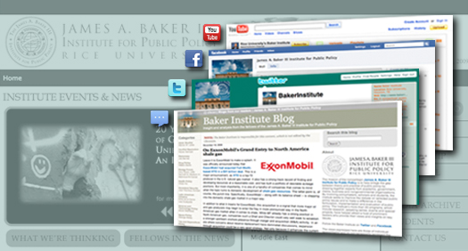 Baker Institute launches newsletter, blog, Twitter and Facebook pages