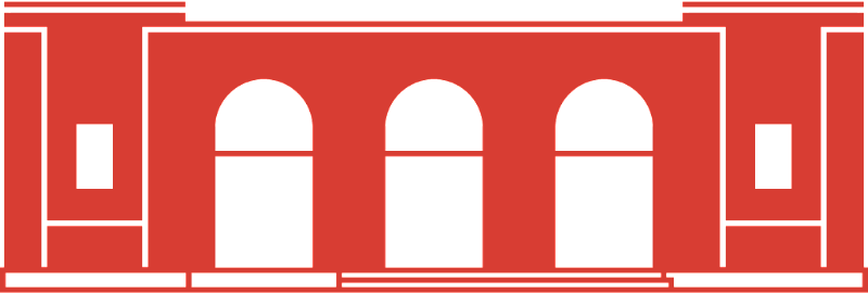 red graphic illustration of the Stanton Street building