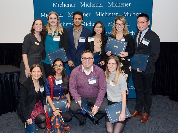 2018 Michener Student Scholarship Recipients and 2 faculty members