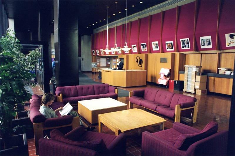 Early image of Michener's lobby