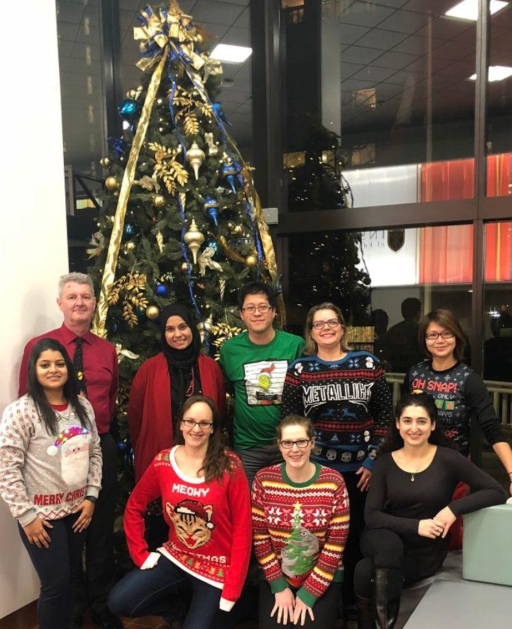 Alumni Association Board members holiday photo