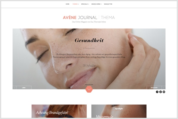 Screenshot Avene Journal