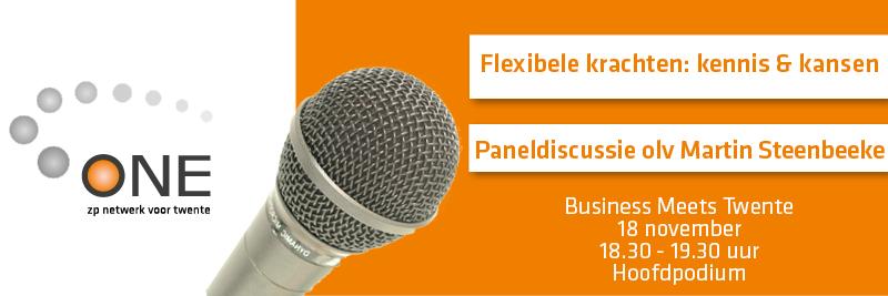 Kom naar de paneldiscussie 'flexibele schil' (BMT)