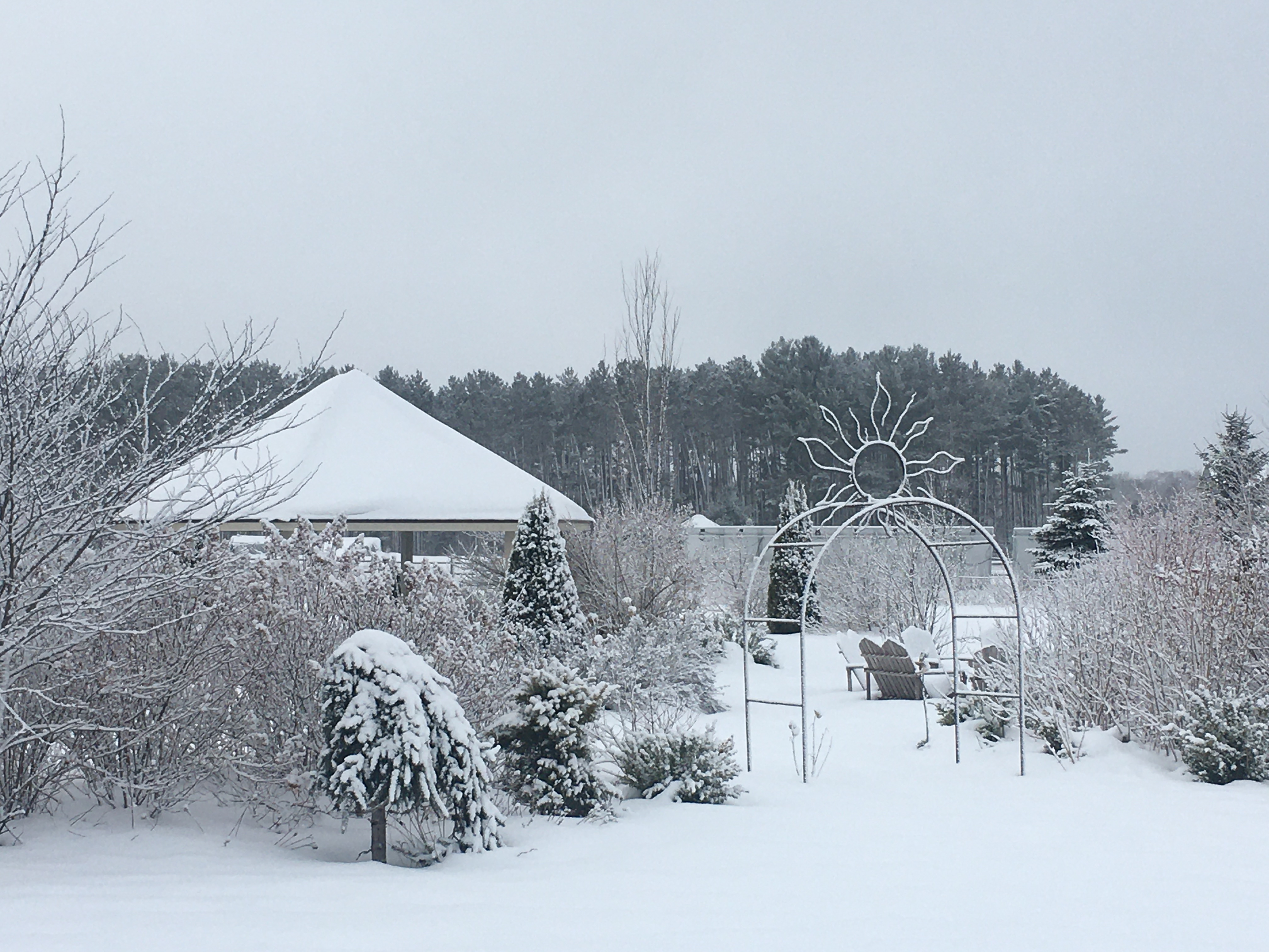 Winter View Meditation Garden