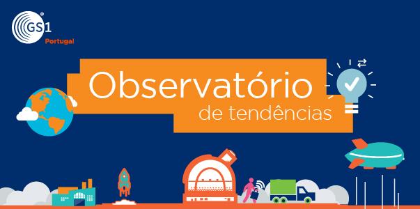 Logo do Observatório de Tendências  e logo da GS1 Portugal