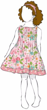 Cute girl's dress you could create with Garden Girl